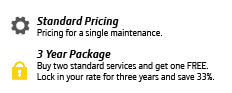 Service 3 year package key